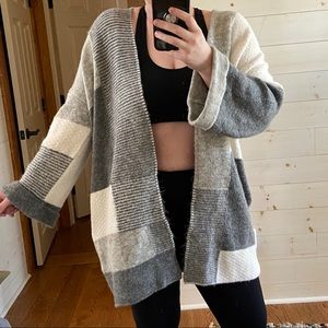{topshop} oversized knit cardigan jacket
